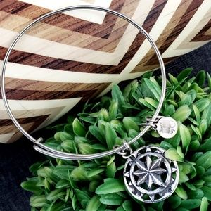 Alex and Ani Compass Charm Bangle